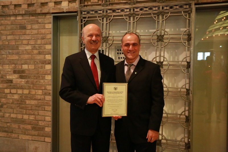 Honourable Mr. Moridi, Mr. Shekholeslami, President of Toronto Iranians